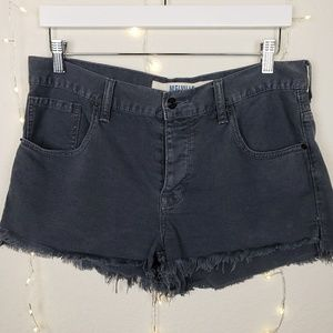 Brandy Melville Frayed Gray Short Shorts Size 30